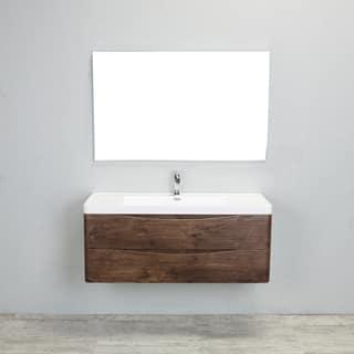 Eviva Smile 48 Inch Rosewood Modern Bathroom Vanity Set