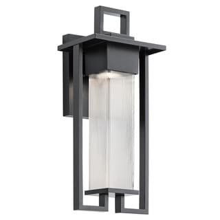 Kichler Lighting Chlebo Collection 1-light Black Outdoor Halogen Wall Lantern