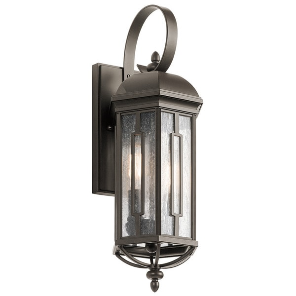 Kichler lighting galemore collection 2 light olde bronze outdoor wall lantern