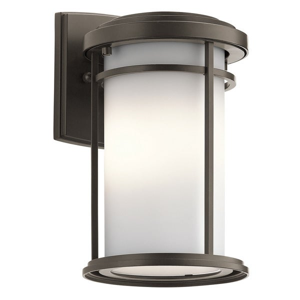 Kichler Lighting Toman Collection 1 Light Olde Bronze Outdoor LED Wall  Lantern