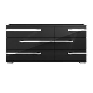 Payton Double Dresser, Black High Gloss