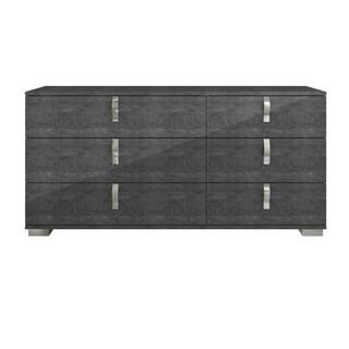 Mila Double Dresser, Grey Birch High Gloss