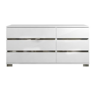Zoe Double Dresser, White High Gloss