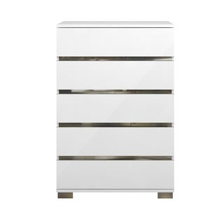Zoe High Chest, White High Gloss