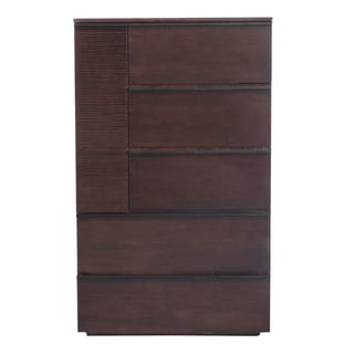 Modern Life Eve Chocolate Oak High Chest of Drawers