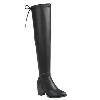 Forever IC09 Women's Drawstring Block Heel Over-the-knee Boots