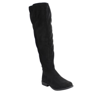 BAMBOO EF07 Women's Knee High Back Lace Up Zipper Riding Boots