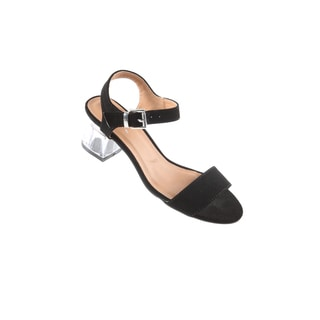 Hadari Women's Clear Low Heel Sandal