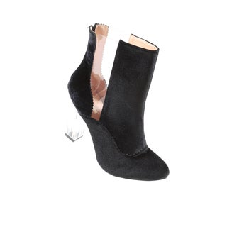 Hadari Women's Clear Ankle Bootie