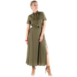 Hadari Women's Charmaine Side Slit Dress