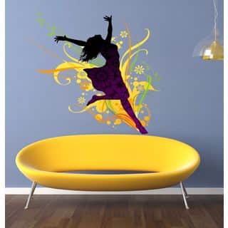 Full color decal Dancer girl sticker, Dancer girl wall art decal Fire Girl Sticker Decal size 33x45 https://ak1.ostkcdn.com/images/products/13961342/P20592880.jpg?impolicy=medium