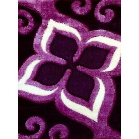 Gloria Shaggy 1008 Purple Area Rug