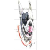 Designart 'Kiss French Bulldog Illustration' Animal Glossy Metal Wall Art