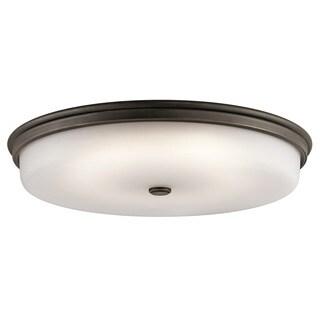Kichler Lighting Traditional 1-light Olde Bronze LED Flush Mount