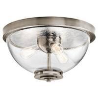 Kichler Lighting Silberne Collection 3-light Classic Pewter Flush Mount