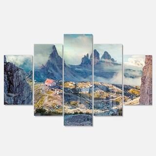 Designart 'Beautiful Lacatelli in National Park' Large Landscape Art Glossy Metal Wall Art