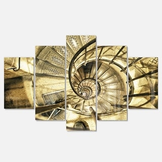 Designart 'Architectural Detail of Paris in Winter' Modern Abstract Glossy Metal Wall Art