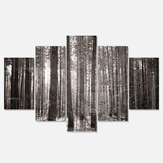 Designart 'Beautiful Misty Forest in the Autumn' Large Forest Glossy Metal Wall Art|https://ak1.ostkcdn.com/images/products/13966082/P20593953.jpg?impolicy=medium
