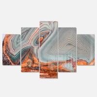 Designart 'Beautiful Lake Superior Agate' Modern Abstract Glossy Metal Wall Art