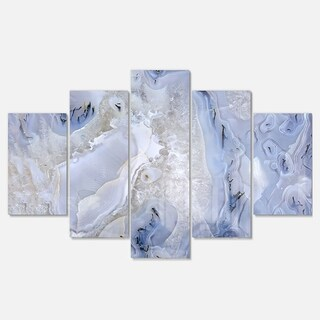 Designart 'Agate Stone Background' Abstract Metal Wall Art