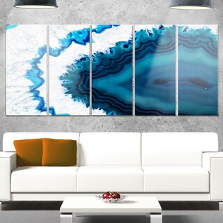 Designart 'Blue Brazilian Geode' Abstract Metal Wall Art