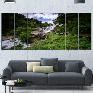 Designart 'Mae Klang Waterfall Thailand' Landscape Metal Wall Art