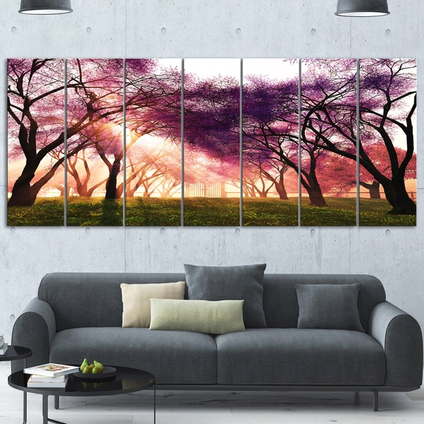 Designart X27Cherry Blossoms Japan Gardenx27 Landscape Metal Wall Art