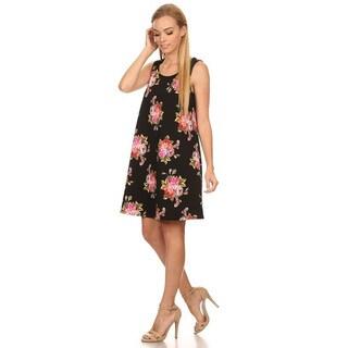 Women's Floral Sleeveless Short Dress