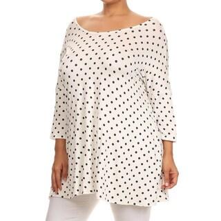 Women's Black Polka Dot Plus Size Tunic