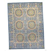 Hand-knotted Brilan Blue Wool Rug (8' x 10')