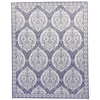 Hand-knotted Montauk Ivory Wool Rug (9' x 12')