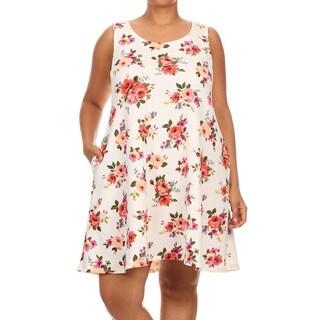 Women's Plus-size Floral Sleeveless Dress