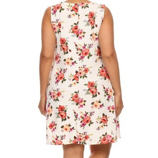 Women's Plus-size Floral Sleeveless Dress