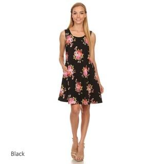 Women's Sleeveless Short Floral Dress