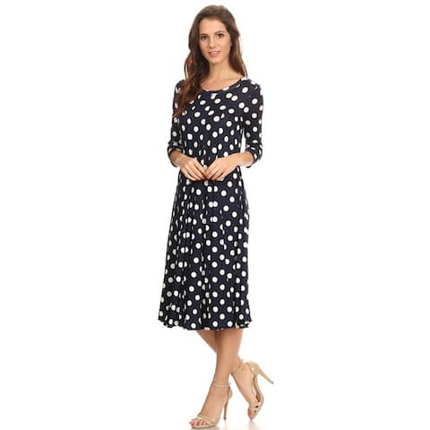 d95efab5b Women s Polka-dot Mid-length Dress