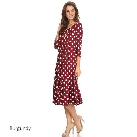 Women's Polka-dot Mid-length Dress