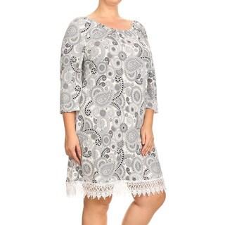 Women's Plus-size Paisley Crochet Lace Dress