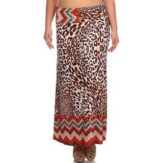 Women's Leopard-print Maxi Skirt