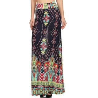 Women's Paisley Spandex Blend Maxi Skirt