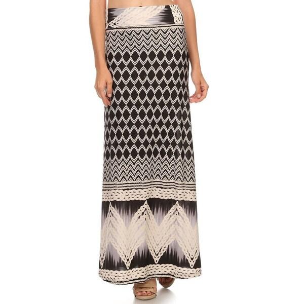 Women's Abstract A-Line Maxi Skirt