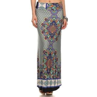 Women's Mandala Print Maxi Skirt