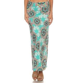 Women's Multi-Color Ornate Maxi Skirt