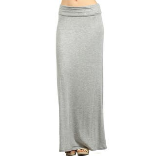 Women's Solid Maxi Skirt|https://ak1.ostkcdn.com/images/products/13968305/P20595946.jpg?impolicy=medium