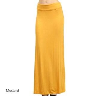 Women's Solid Maxi Skirt