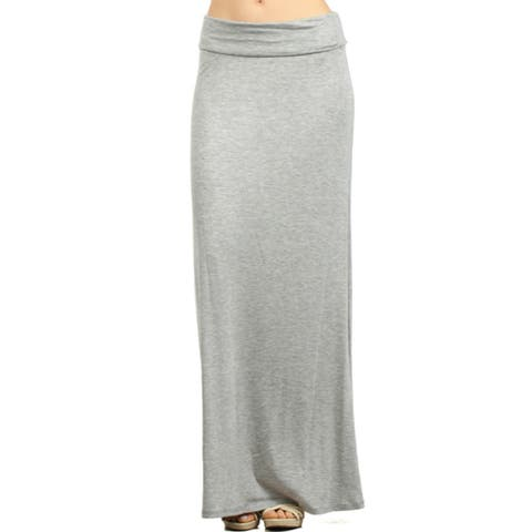 Women's Solid Maxi Skirt