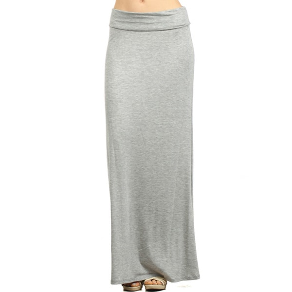 Women's Solid Maxi Skirt. Opens flyout.