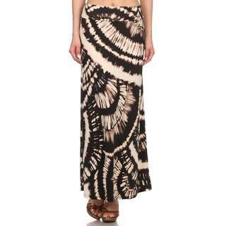 Women's Multicolor Tie-dye Maxi Skirt