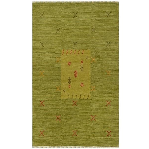 Shop Oriental Persian Gabbeh Shades Of Orange Hand Knotted: Shop Handmade Herat Oriental Indoed Tribal Gabbeh Wool Rug