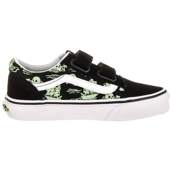 Shop Vans Kids Old Skool V (Glow Pirate) Skate Shoe Free
