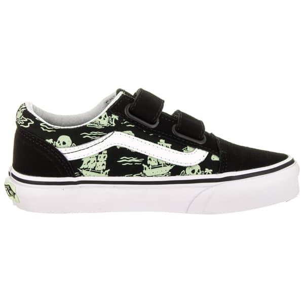 8fb03092a0 Shop Vans Kids Old Skool V (Glow Pirate) Skate Shoe - Free Shipping ...
